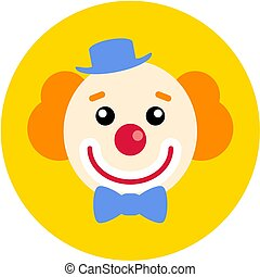 Clown flat icon for app ui web. Vector illustration.