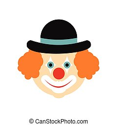 Clown flat icon