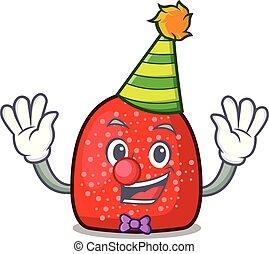 Clown gumdrop mascot cartoon style vector illustration
