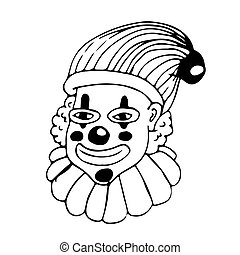 clown hand draw doodle illustration design