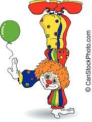 clown, handstand