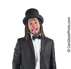 clown, haut, assaisonnement