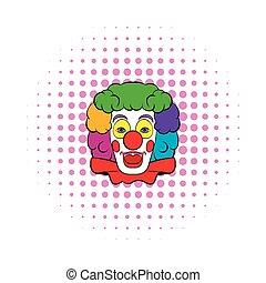Clown icon, comics style