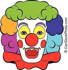 Clown icon, icon cartoon