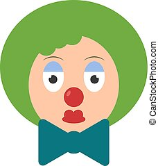 Clown, illustration, vector on white background.