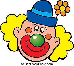 Clown. - Happy clown. Vector art-illustration on a white...