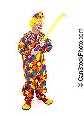 Clown Inflates Balloon Animal