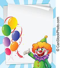 clown, invitation