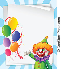 Clown invitation - Illustration of a clown invitation