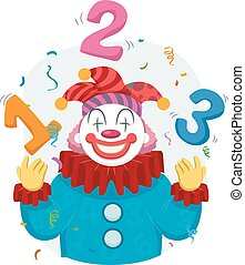 Clown Juggle 123 Illustration