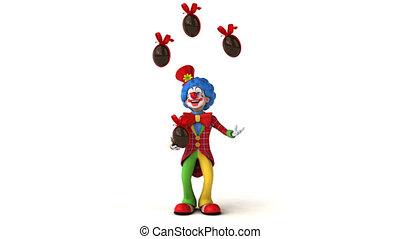 Clown juggling - 3D Animation