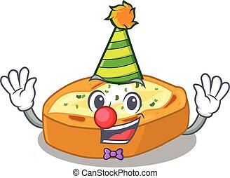 clown, karakter, schattig, bakt, ontwerp, aardappels, spotprent, concept