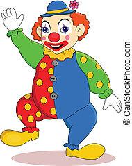 clown, karikatur, lustiges