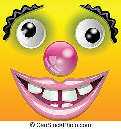 clown, lächeln