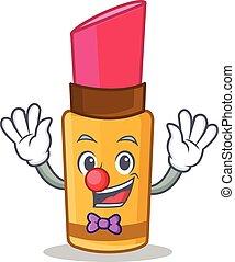 Clown lipstick character cartoon style