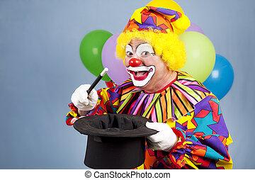 clown, magicien