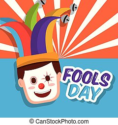 clown mask happy jester hat fools day
