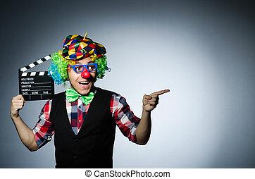 clown, mit, der, film, brett