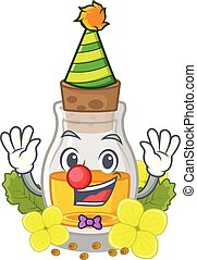 Clown mustard oil in the cartoon shape