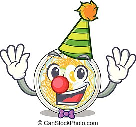 Clown naengmyeon in the a shape cartoon