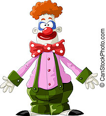 Clown on a white background, vector illustration