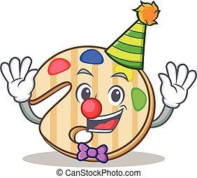 Clown paint palette character cartoon