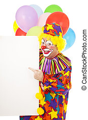 Clown Points to Message