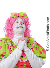 Clown Praying