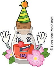 Clown rosehip seed oil on a mascot