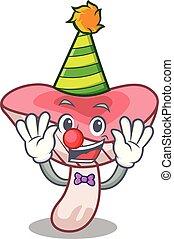 clown, russule, dessin animé, champignon, mascotte