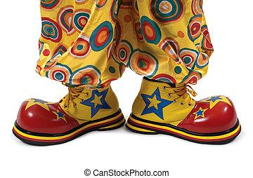 Clown shoes - A huge pair of clown shoes.