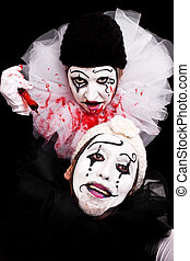 clown, sinistre, cafards, victime