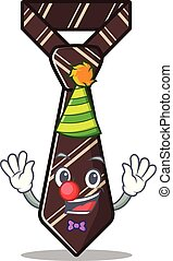 clown smiling tie isolated on the cartoon
