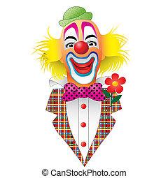 Clown - A Circus Clown with a Flower