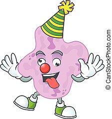 clown, tetracoccus, dessin animé, style, amuser, mascotte, caractère