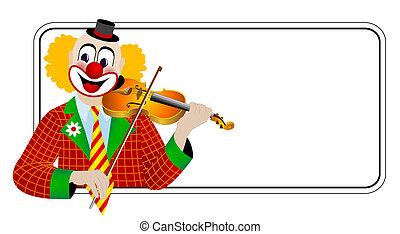 Clown the violinist