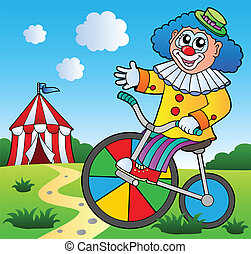 Clown theme picture 2 - vector illustration.