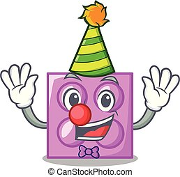 Clown toy brick mascot cartoon