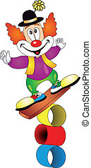 Clown vector - Funny clown. Vector illustration isolated on...