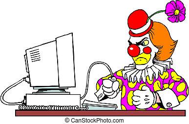 Clown vector illustration