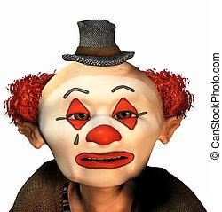 clown, verdrietige