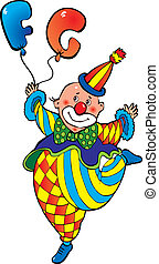 Clown with balloons.