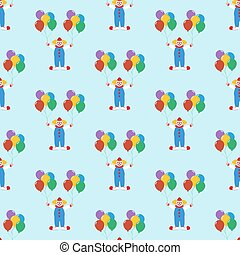 Clown with balloons pattern