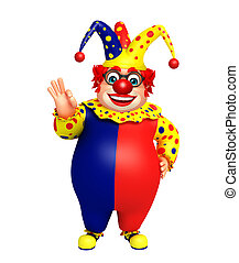 Clown with Best sign