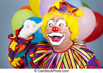 Clown With Bright Idea