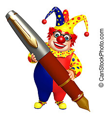 Clown with Pen