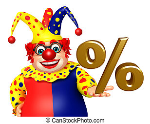 Clown with Percentage sign