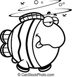 clownfish, cartone animato, ubriaco