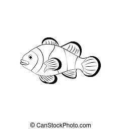 Clownfish coloring pages
