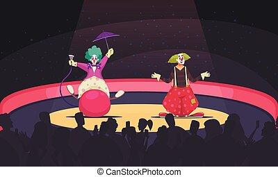 Clowns Cartoon Background